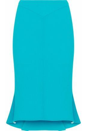 ROLAND MOURET Fluted wool-crepe pencil skirt