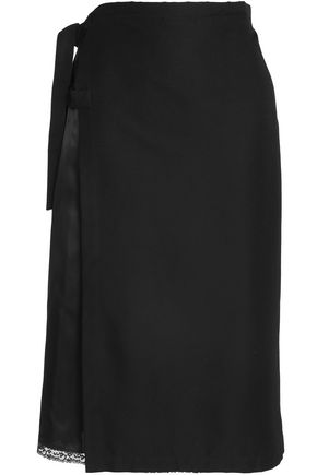 MAISON MARGIELA Cotton and silk-blend twill skirt