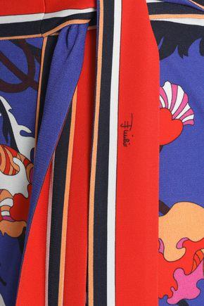 EMILIO PUCCI Printed crepe wrap skirt