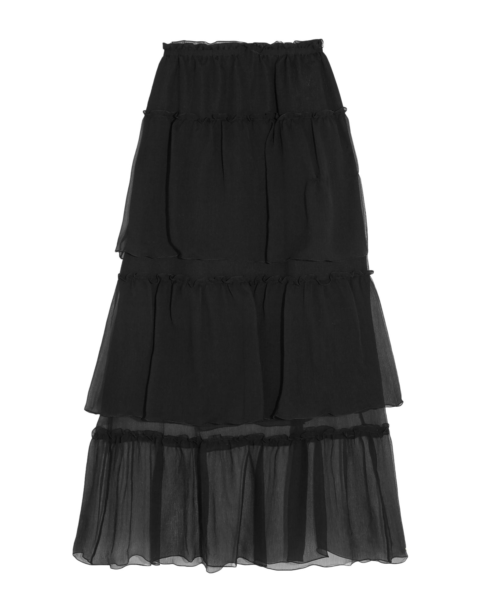 《セール開催中》SONIA RYKIEL レディース ロングスカート ブラック 36 シルク 100%