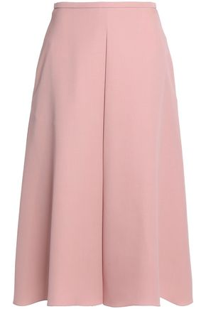 ROCHAS Pleated wool-twill midi skirt