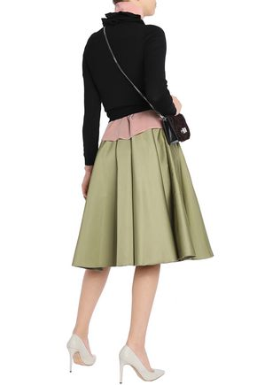 b1551d96e2 Pleated duchesse-satin skirt | ROCHAS | Sale up to 70% off | THE OUTNET