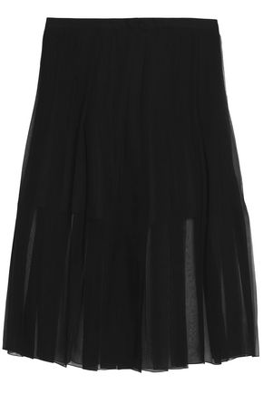 ROCHAS Pleated silk-chiffon midi skirt