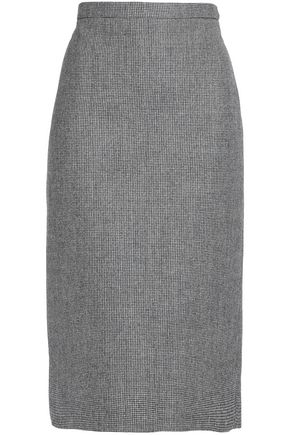 ROCHAS Houndstooth wool-blend midi skirt