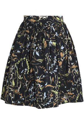 PETER PILOTTO Paneled metallic twill skirt