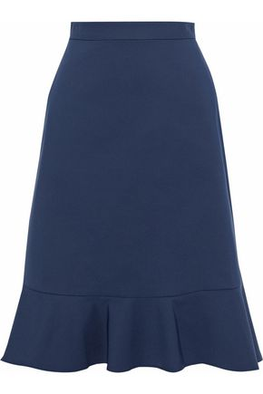 RAOUL Cotton-blend crepe skirt