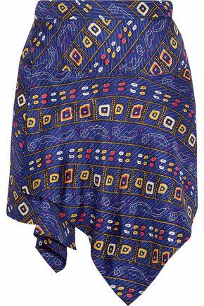 ISABEL MARANT Tosi printed silk-twill mini wrap skirt