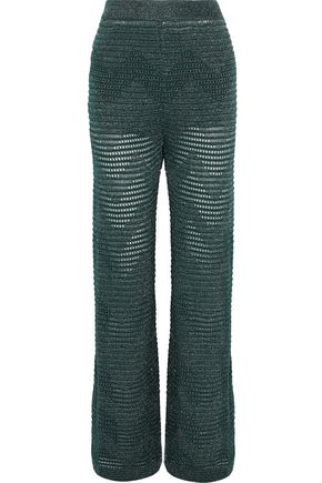 M MISSONI Metallic open-knit wide-leg pants