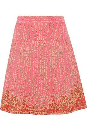M MISSONI Fluted metallic jacquard mini skirt