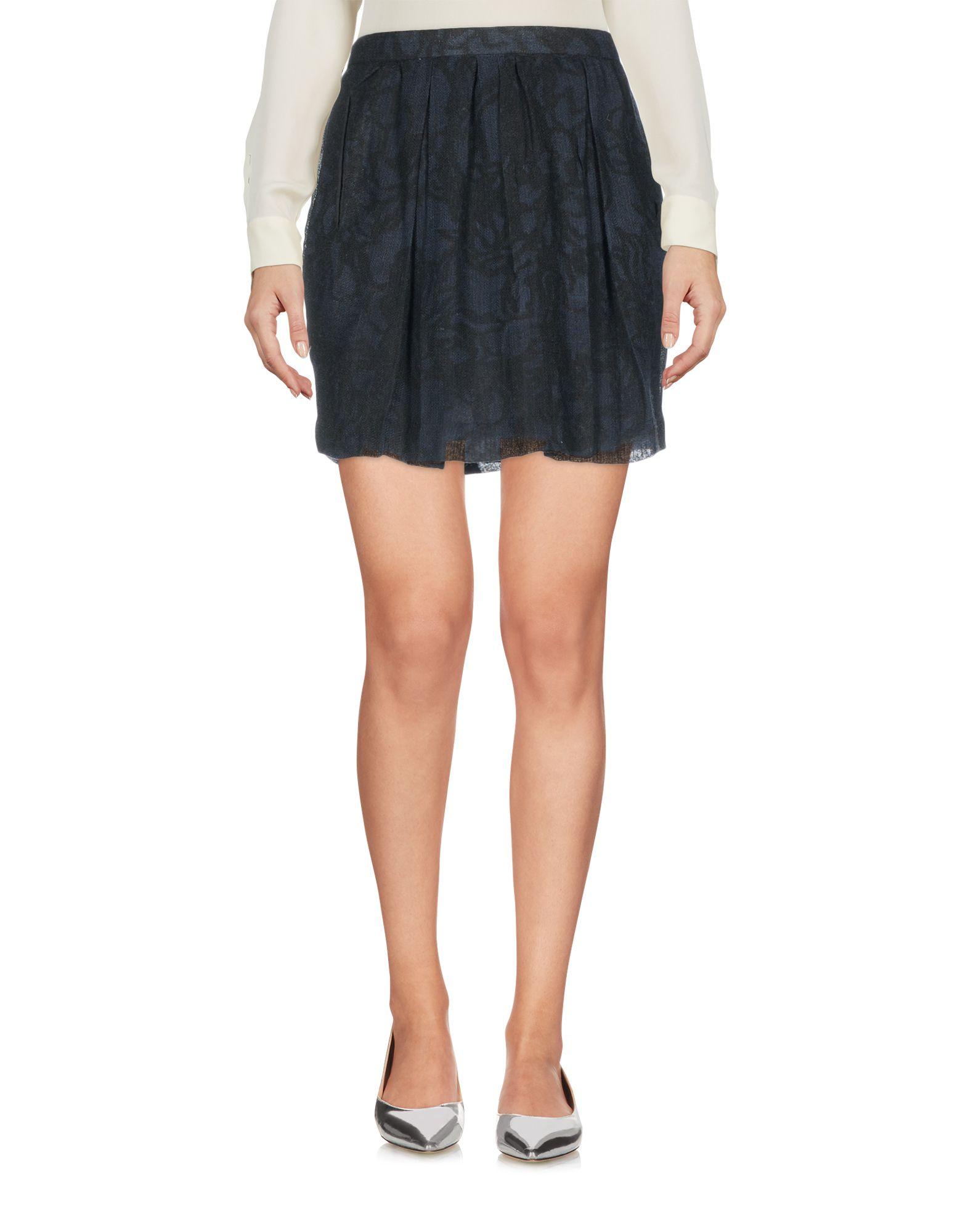 GAT RIMON Mini Skirt in Dark Blue