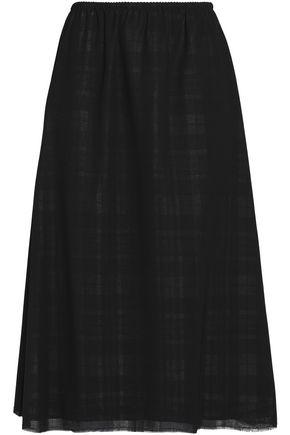 MAISON MARGIELA Checked wool-gauze skirt