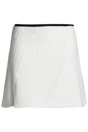 VICTORIA, VICTORIA BECKHAM Pleated crepe mini skirt