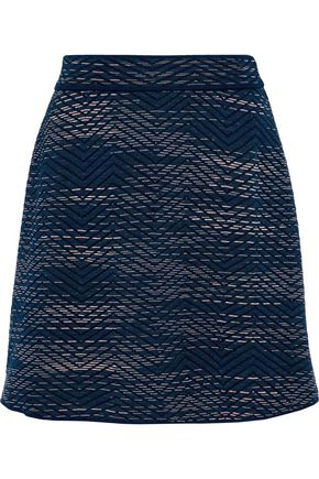 M MISSONI Crochet-knit wool-blend mini skirt