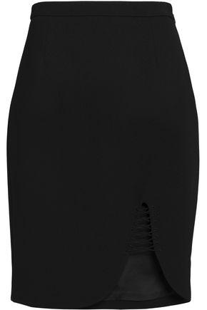 ALEXANDER WANG Lattice-trimmed crepe skirt
