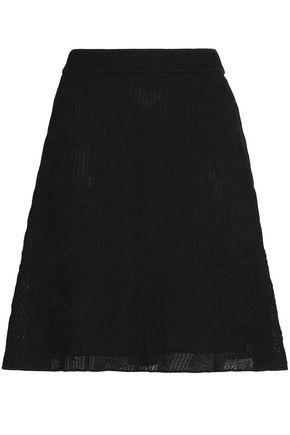 M MISSONI Cotton-blend cloqué mini skirt