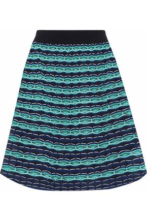 M MISSONI Flared crochet-knit mini skirt