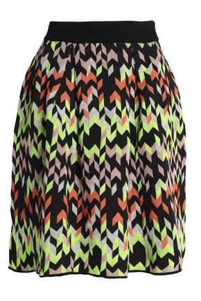 M MISSONI Pleated jacquard skirt