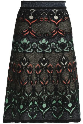 M MISSONI Metallic jacquard-knit skirt