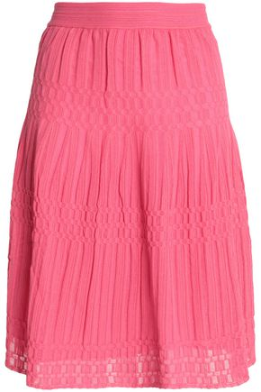 M MISSONI Ribbed crochet-knit skirt