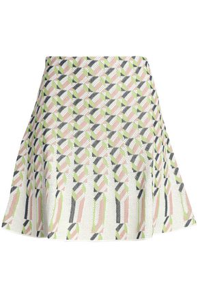 M MISSONI Pleated jacquard mini skirt