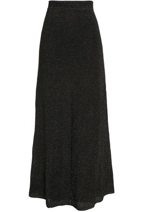 M MISSONI Metallic ribbed-knit maxi skirt