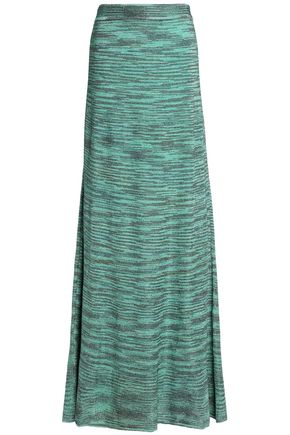 M MISSONI Metallic ribbed-knit maxi skirt