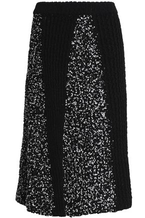 M MISSONI Paneled knitted skirt