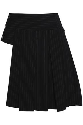 DKNY Pinstriped wool-blend mini skirt