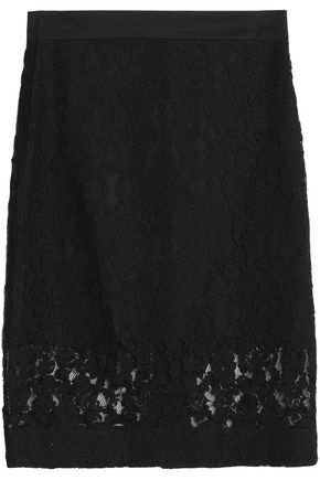 DKNY Cotton-blend lace skirt