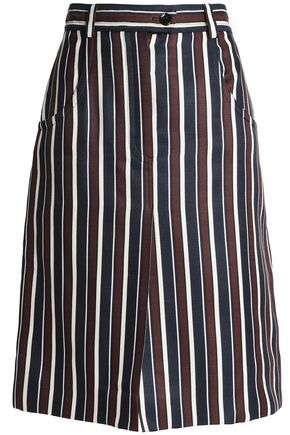 NINA RICCI Striped wool and silk-blend skirts