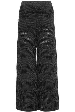 M MISSONI Metallic open-knit wide-leg pants