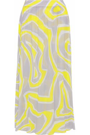 Best Store To Get Cheap Online printed shift maxi dress - Yellow & Orange Emilio Pucci Comfortable Cheap Online IjS2cswgO