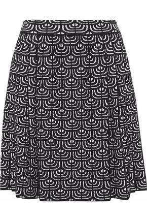 M MISSONI Pleated wool-blend jacquard mini skirt