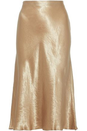 VINCE. Fluted satin skirt