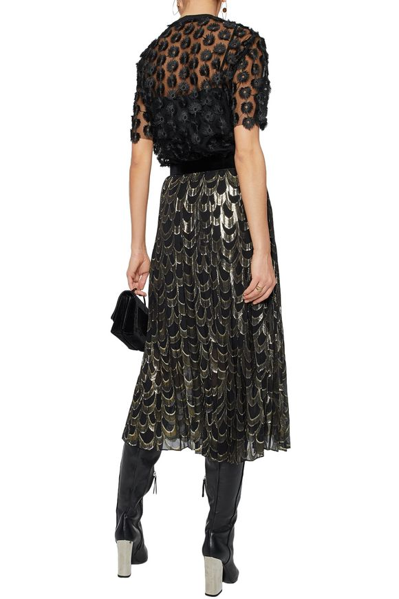 Metallic silk-blend midi skirt | PERSEVERANCE | Sale up to 70% off | THE  OUTNET