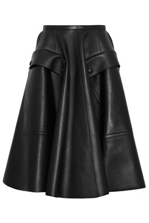 ROCHAS Flared leather skirt