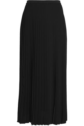 MM6 MAISON MARGIELA Pleated crepe maxi skirt