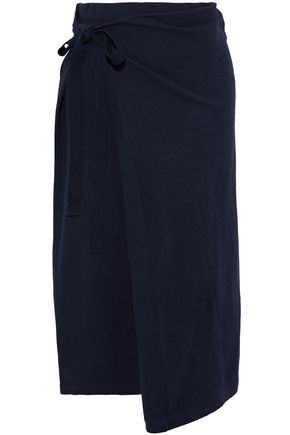 JOSEPH Cotton wrap midi skirt