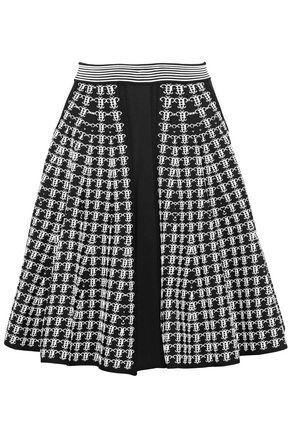 EMILIO PUCCI Fluted jacquard-knit skirt