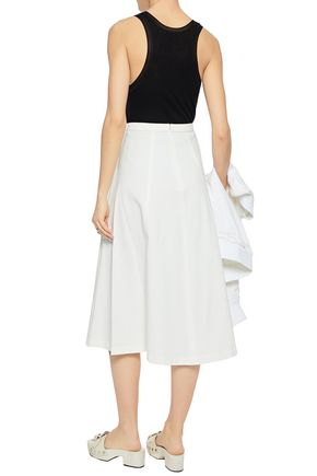 T by ALEXANDER WANG Flared cotton midi skirt