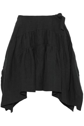 J.W.ANDERSON Pleated line mini skirt