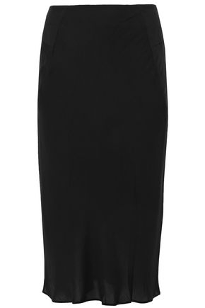 T by ALEXANDER WANG Fluted crepe midi skirt