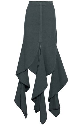J.W.ANDERSON Draped cotton-canvas maxi skirt