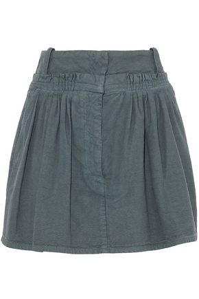 J.W.ANDERSON Pleated cotton-canvas mini skirt