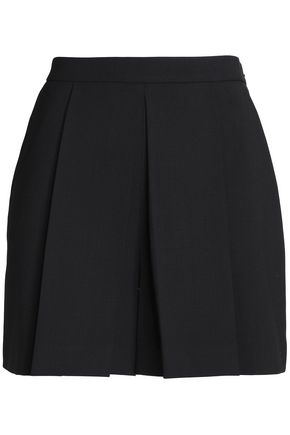 ALEXANDER WANG Pleated twill shorts
