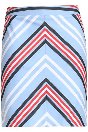LOVE MOSCHINO Printed cotton-blend mini skirt