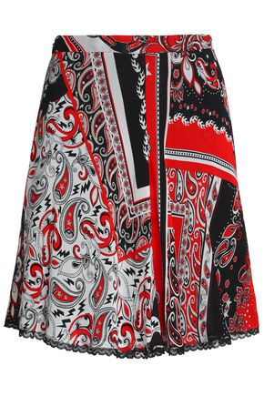 JUST CAVALLI Printed crepe mini skirt