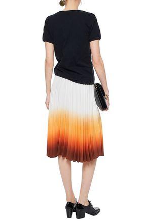 J.W.ANDERSON Pleated dégradé crepe skirt