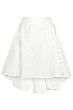 J.W.ANDERSON Crinkled cotton and linen-blend skirt