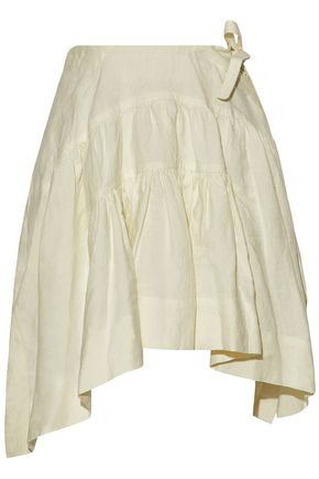 J.W.ANDERSON Pleated linen mini skirt